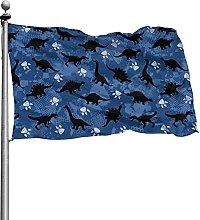 Modello di dinosauro Stampa Bandiera di lusso 4x6