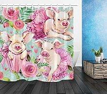 Modello di maiale carino acquerello Stampa HD,