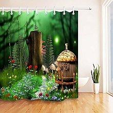 Modello di paesaggio in legno da favola Stampa HD,