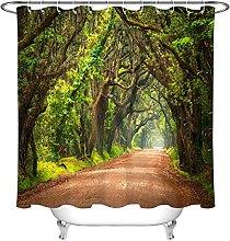 Modello foresta giungla Tenda da doccia
