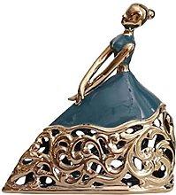 Modello In Ceramica Scultura Signora Elegante Con