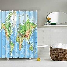 Modello mappa del mondo Tenda da doccia Stampata