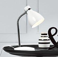 moderna lampada da tavolo CICLONE, bianca