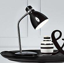 moderna lampada da tavolo CICLONE, nera