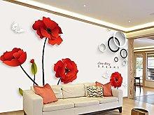 Moderno e minimalista fiori dipinti a mano 3D