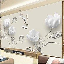 Moderno semplice 3D murale stereo tulipano