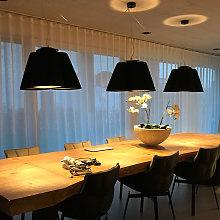Modo Luce Florinda sospesa 3 luci plissé antracite