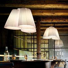 Modo Luce Florinda sospesa 3 luci plissé bianco