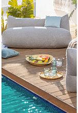 Moduli divano da giardino in tessuto Attus Gris &