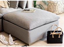 Moduli divano in Tessuto Belah Gris & Pouf Sklum