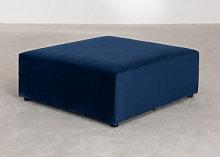 Moduli per divani in velluto Kata Blu & Pouf Sklum