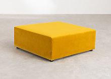 Moduli per divani in velluto Kata Mostarda & Pouf