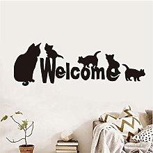 Molti gatti Benvenuti Preventivo Adesivo murale in