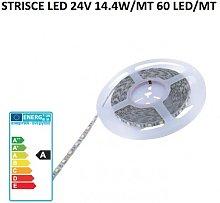 Molveno strisce led 24V 14,4W/MT 60 led/MT 3000K