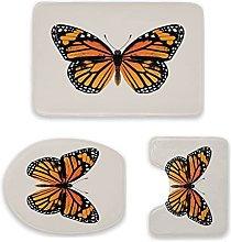 Monarch, set di 3 tappetini da bagno, antiscivolo,