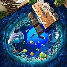 Mondo subacqueo delfino adesivo murale carta da