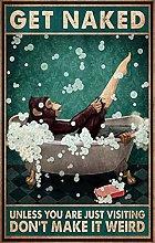 Monkey in The Bath Poster-Divertente Poster da