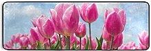 MONTOJ Tappeto da cucina con fiori rosa