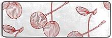 MONTOJ Tappeto da cucina rosso con ciliegia
