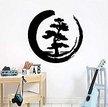 Moon Tree Pattern Design Decal Soggiorno