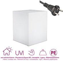 moovere cubo luminoso decorativo E27, 7W, bianco