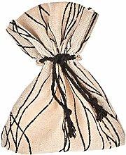 Mopec A24800 - Sacchetto in cotone a righe nere,