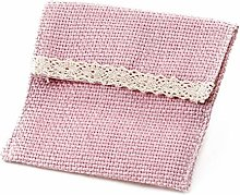 Mopec - Sacchetto rosa con velcro 10 x 11,5 cm.