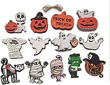 Moreeoustitory13pcs Halloween Decorazioni in legno