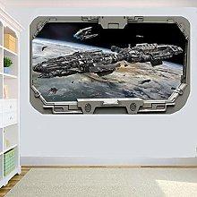 MOTHERSHIP PLANET 3D Spacecraft Window ADESIVO DA