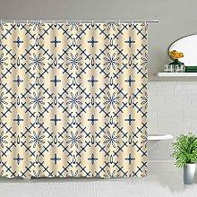 Motivo patchwork per tenda da doccia marocchina