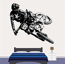 Motocross Dirt Bike Decalcomania Da Muro Ragazzi
