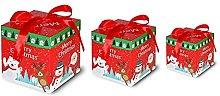 MOXUZI Grandi scatole di nidificazione di Natale,