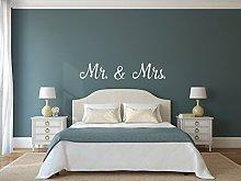 Mr and Mrs muro sticker vivente stanza removibile