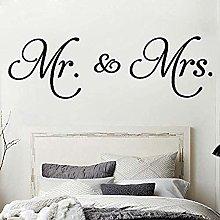 Mr Mrs Quotes Decalcomania Da Muro In Vinile