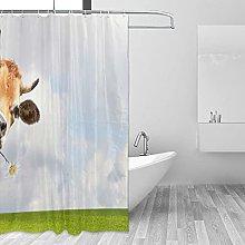 MRFSY Country - Tenda da doccia con mucca,