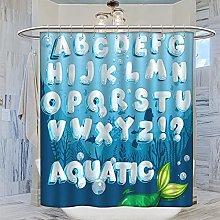 MRFSY - Set di tende da doccia con alfabeto, per