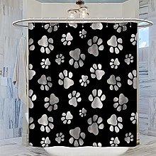 MRFSY - Set di tende da doccia con motivo a lupo