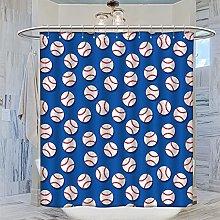 MRFSY - Set di tende da doccia con motivo baseball