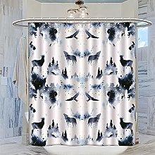 MRFSY - Set di tende da doccia per acquarello,