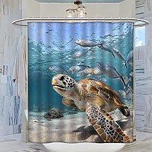 MRFSY - Tenda da doccia con tartaruga marina,
