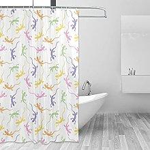 MRFSY - Tende da doccia a forma di geco, motivo a