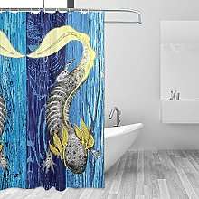 MRFSY - Tende da doccia Axolotl con motivo a
