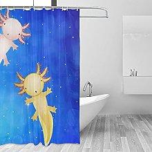 MRFSY - Tende da doccia Axolotl, motivo animali,