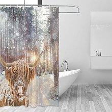 MRFSY - Tende da doccia con animali selvatici e