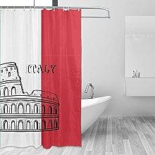 MRFSY - Tende da doccia con bandiera italiana,
