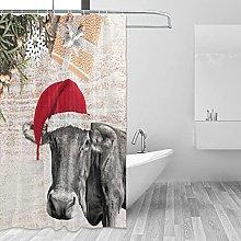 MRFSY - Tende da doccia con motivo mucca, con