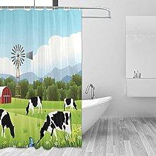 MRFSY - Tende da doccia con mucca, con motivo