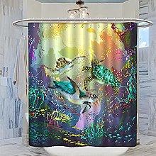 MRFSY - Tende da doccia con tartaruga marina,