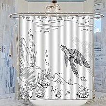 MRFSY - Tende da doccia con tartarughe marine,