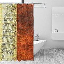 MRFSY - Tende da doccia vintage con bandiera